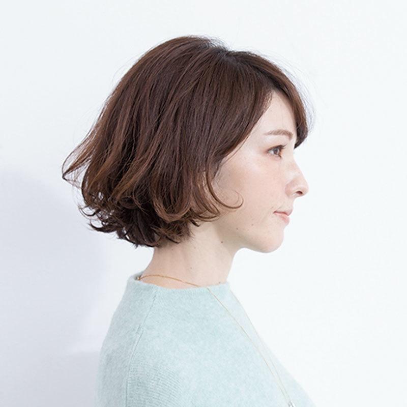横から見た人気ボブヘアスタイル2位の髪型