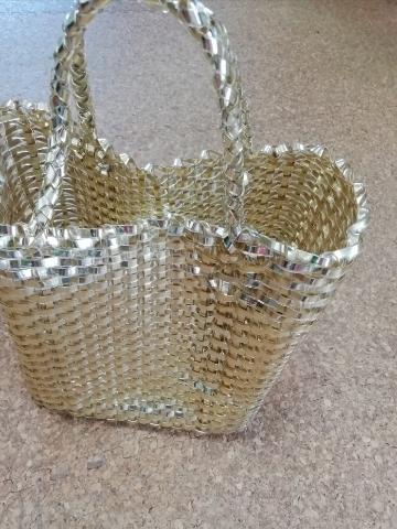 ユナイテッドアローズグリーンレーベルで購入したゴールドかごバッグ