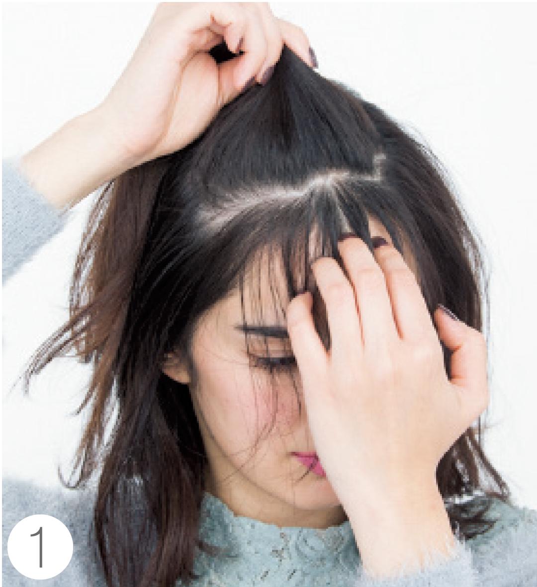 ダウンヘアの前髪アレンジは「サイド残しのおでこだし」が今っぽ♡ _1_5-1