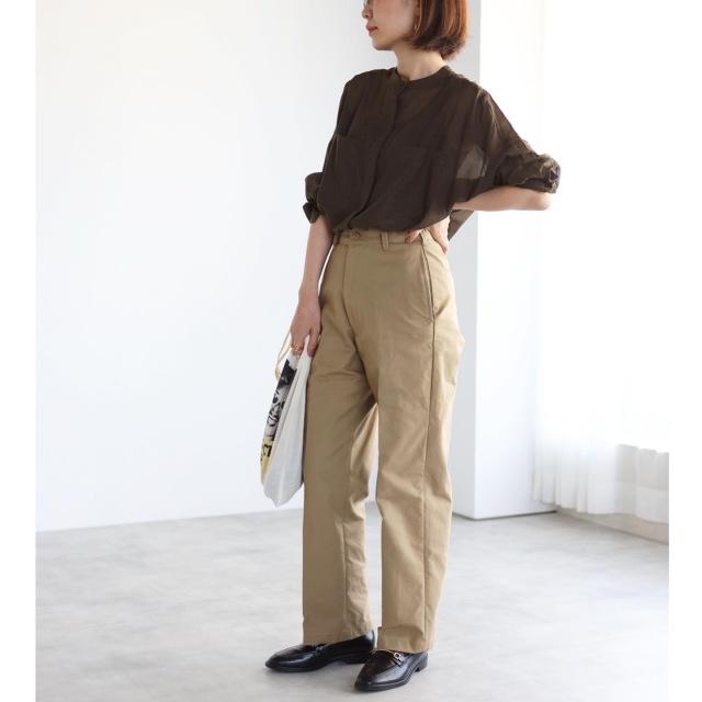 秋色シアーシャツでマニッシュコーデ【tomomiyuコーデ】_1_6
