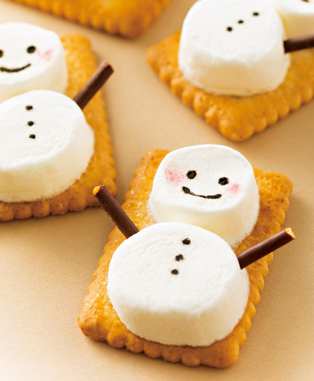 簡単カワイイ♡ 市販のお菓子でマシュマロスノーマンを手作り!【クリスマススイーツレシピ】_1_2