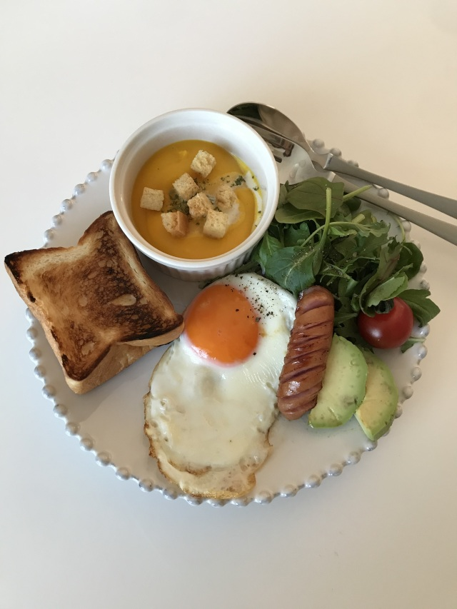 作り置きスープで簡単ワンプレート朝ごはん!_1_2