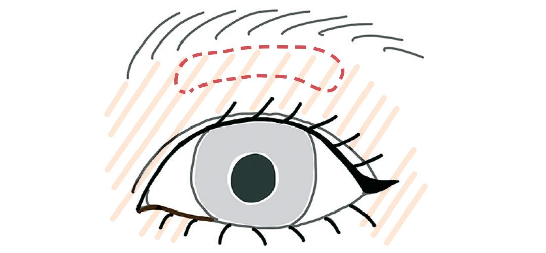 目の形が小粒さんにもっと似合わせるなら