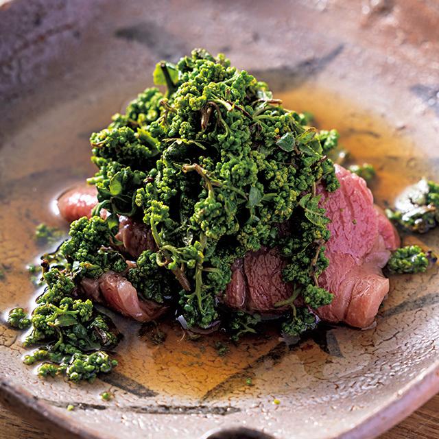 牛肉は、フィレは塩で、サーロインはたっぷりのだしで味わう