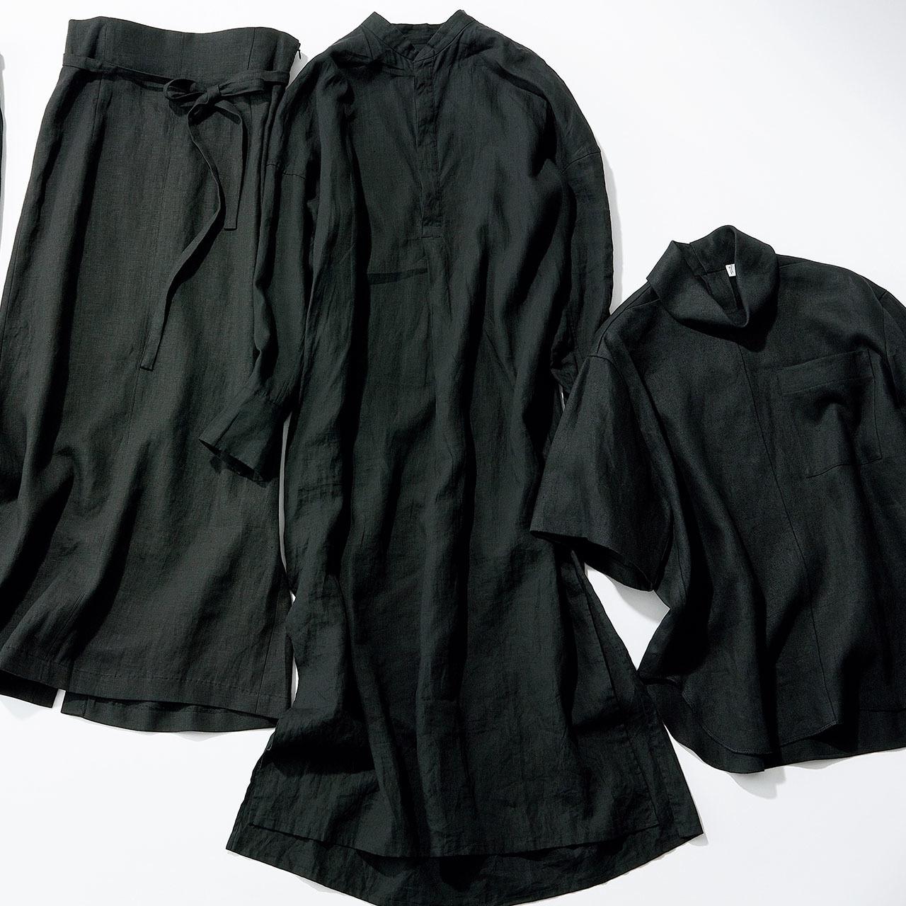 """""""黒のクールみ""""手に入る、カッコよく着られる大人のリネン 五選_1_1-3"""
