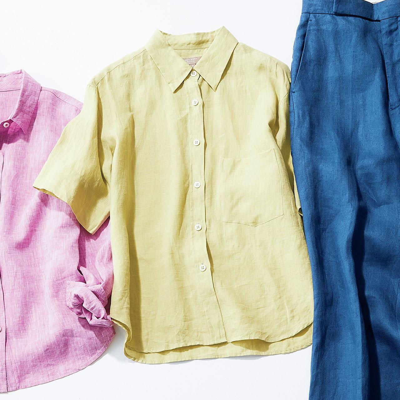 """リネンのカッコよさを印象づけるなら""""きれい色のトレンド感""""で 五選_1_1-3"""