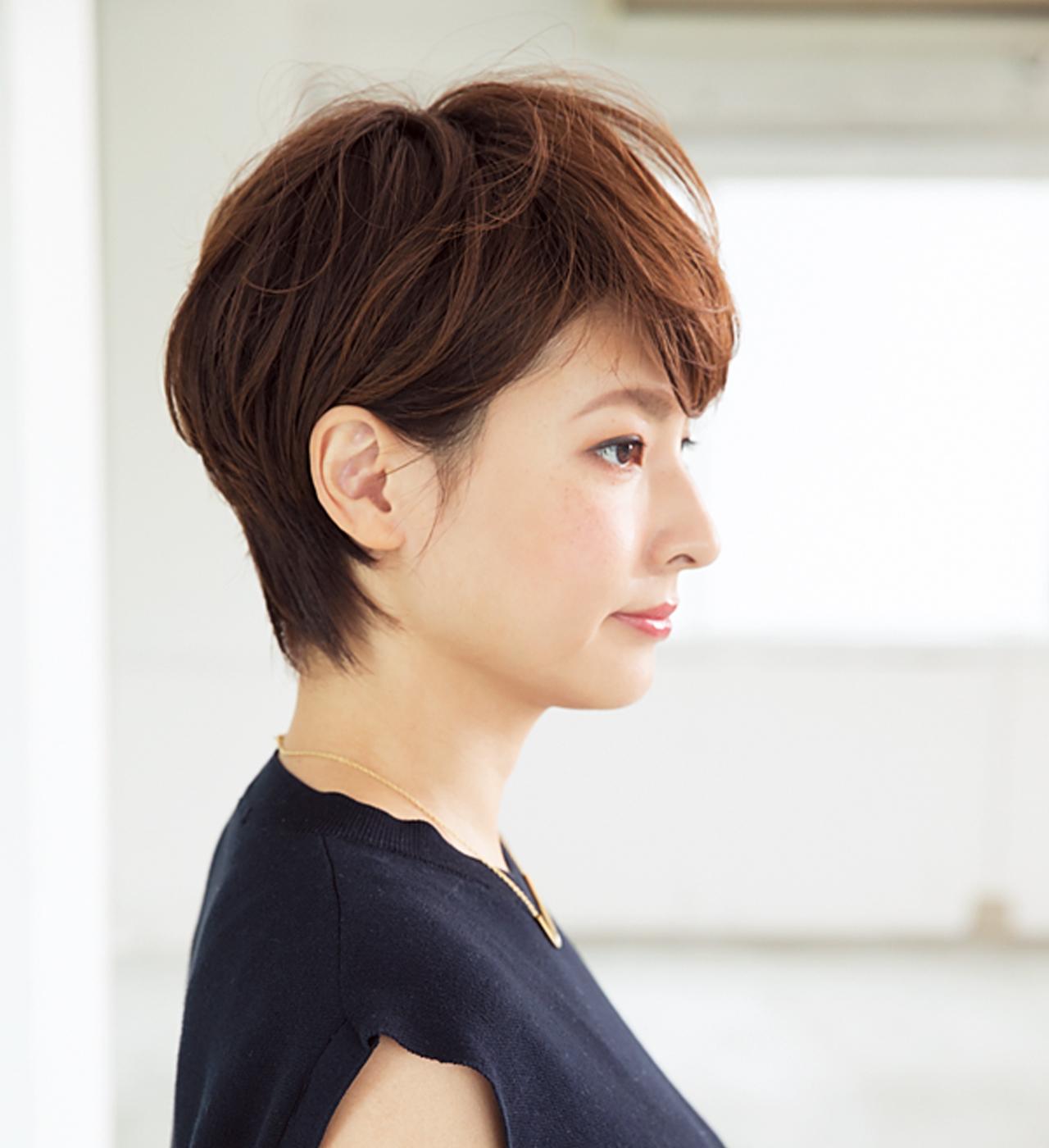 小顔効果のある「ひし形」フォルムはショートヘアの鉄板【40代のショートヘア】_1_2