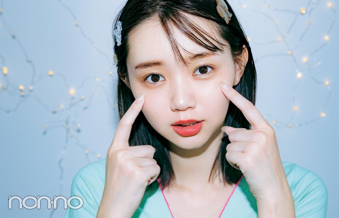江野沢愛美のインカメ映えメイク「夜の撮影なら、テカリに見えないハイライトを!」_1_4