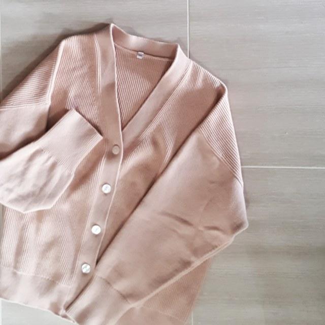 冬→春をつなぐ、ニュアンスピンクのカーディガンで着まわしコーデ♪_1_2