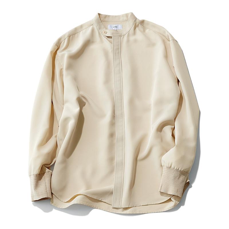 この春はシャツが着たい。「スタンドカラー」は襟の形に変化あり!_1_2-3