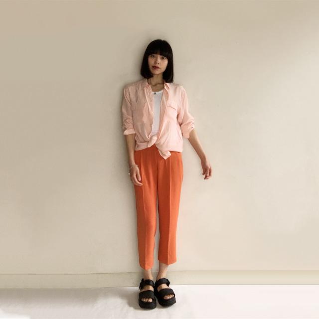 Marisol5月号の特集「きれい色」に倣ってオレンジボトムを着回してみた!!_1_3