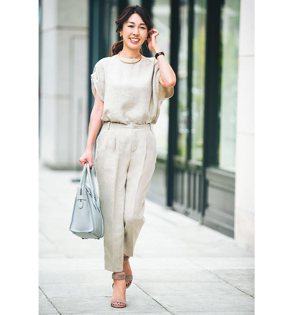 通勤パンツも堅すぎず、きちんとおしゃれなのが美女組流 Style【美女組ファッションSNAP】_1_1-1