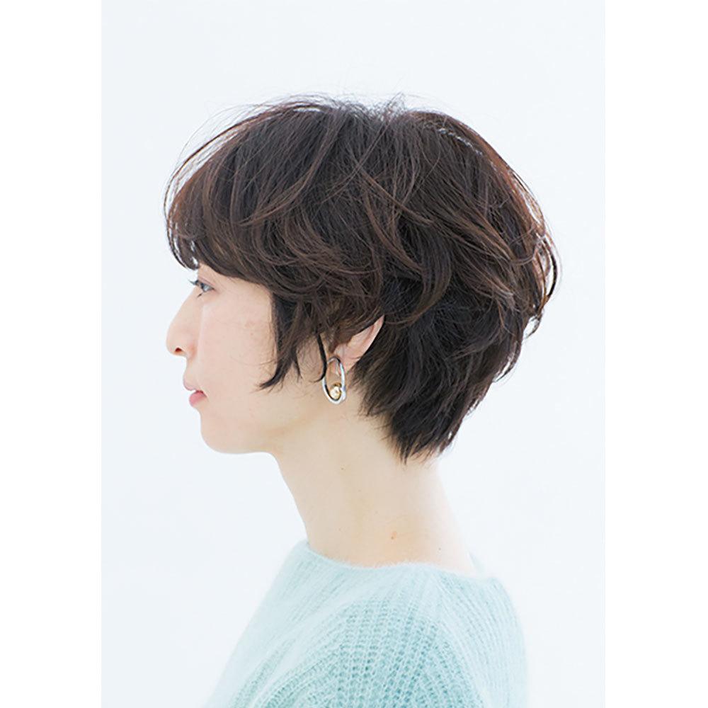 横から見た ショートヘアスタイル人気ランキング1位の髪型