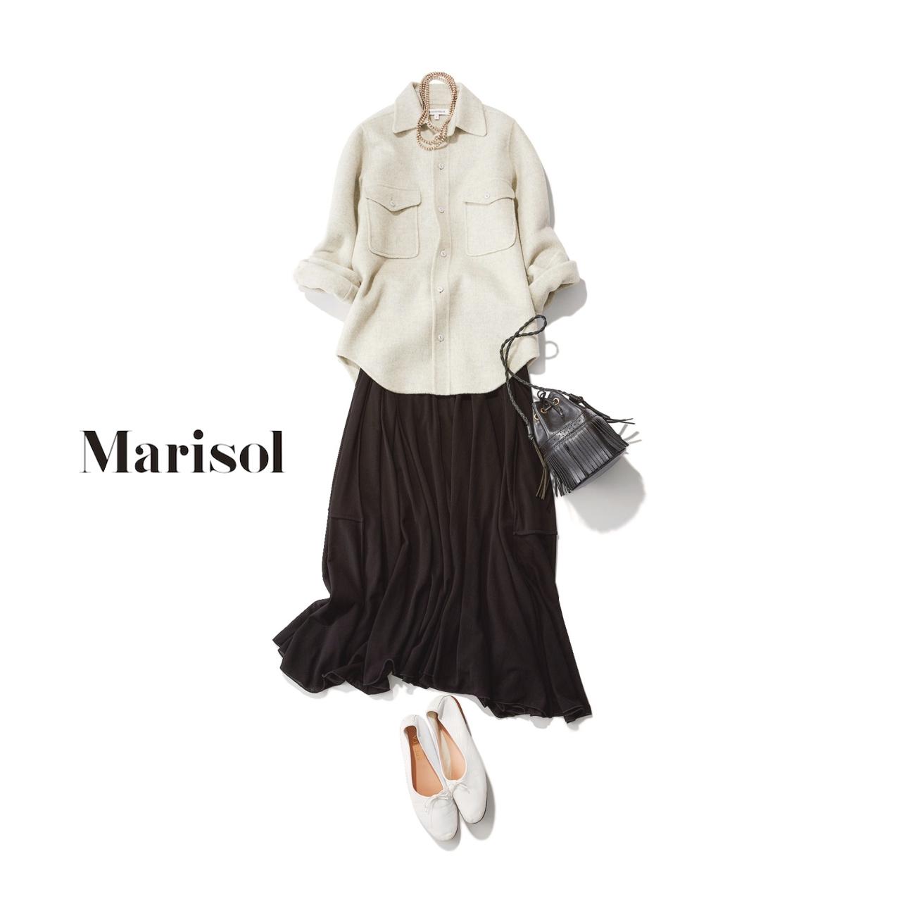 40代ファッション CPOジャケット×スカートコーデ