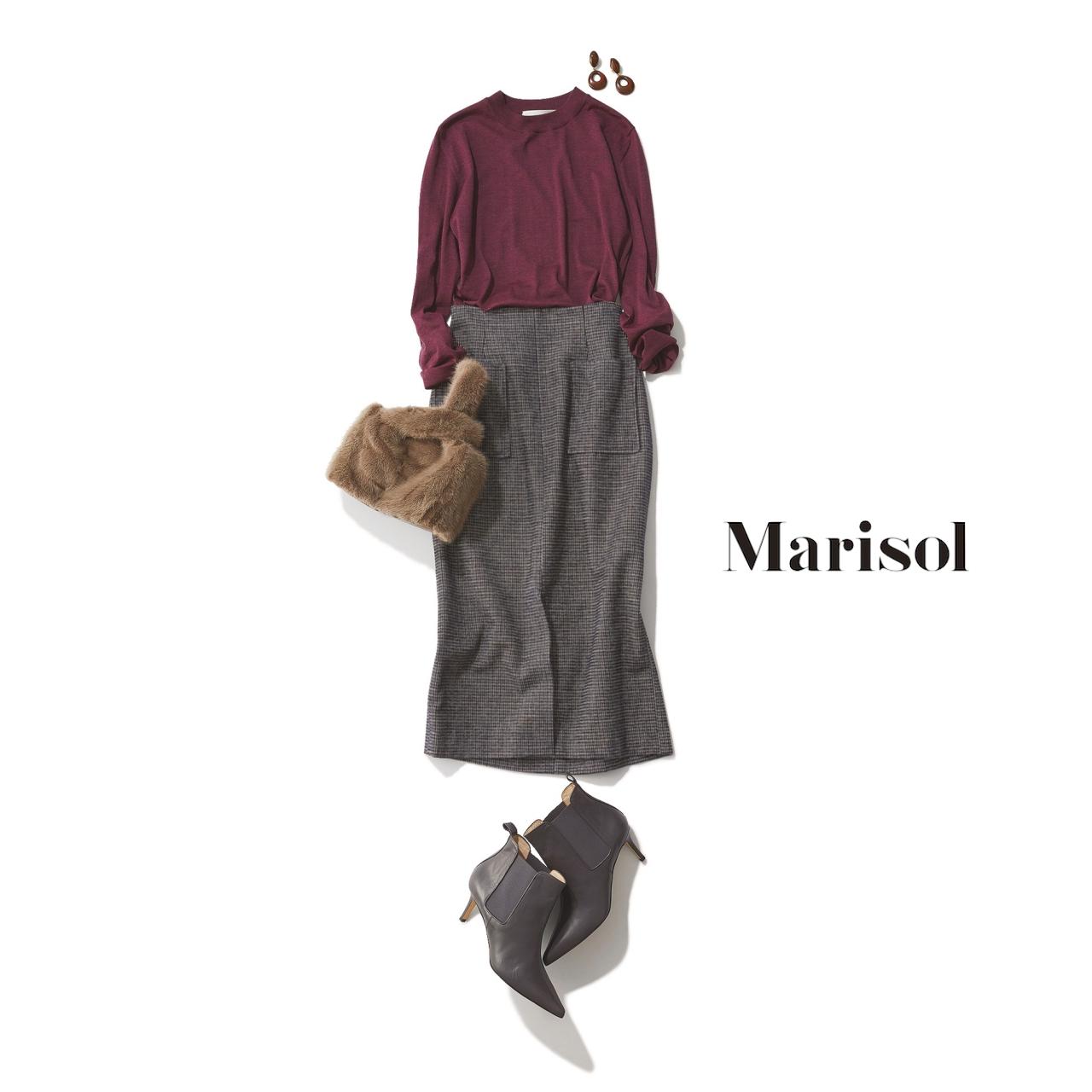40代ファッション ニット×タイトスカートコーデ