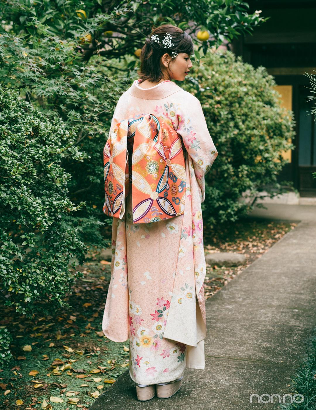 渡邉理佐の振袖コーデ♡ ピンクは同系色合わせで上品&可愛らしく【成人式2020】_1_2-2