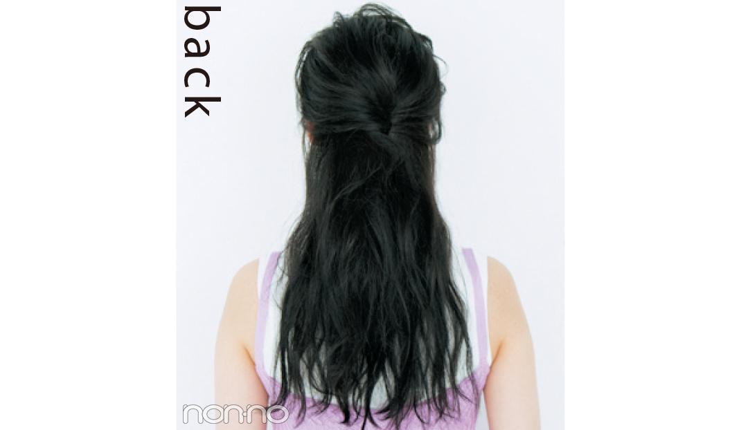 黒髪のヘアアレンジ★おでこ出しは、ワックスで3D感をプラスするのがカギ! _1_2