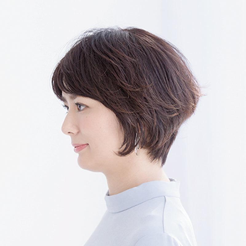 横から見た 40代人気ヘアスタイル2位の髪型