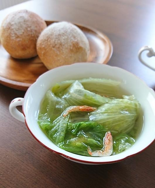 「からだ想いの家中華」レタスの丸ごとスープ煮のレシピで作りました