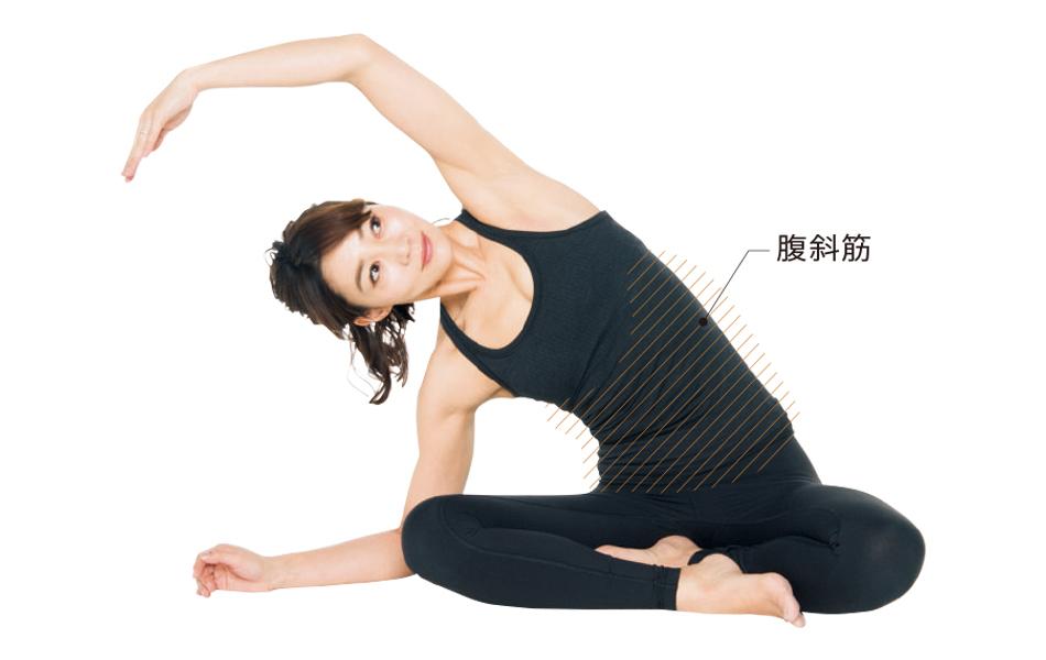 <ひっこめ!腹肉・腰肉>Step2 ストレッチで体を伸ばし軸を通す_1_3