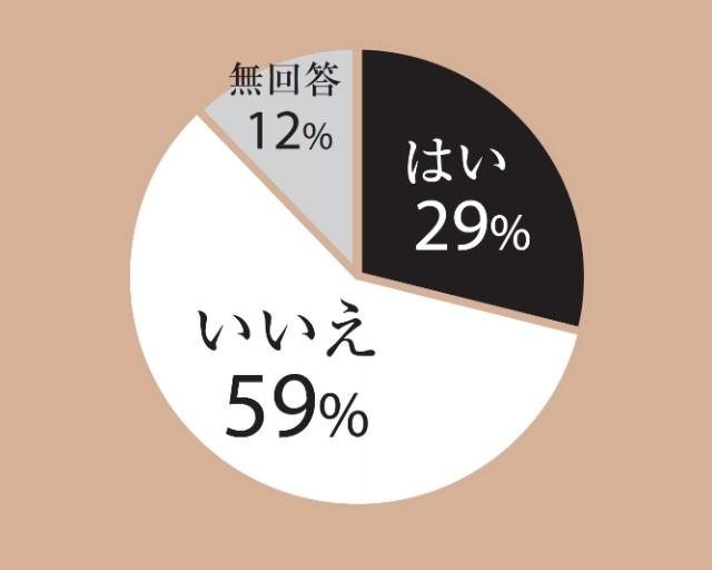 はい29% いいえ59% 無回答12%