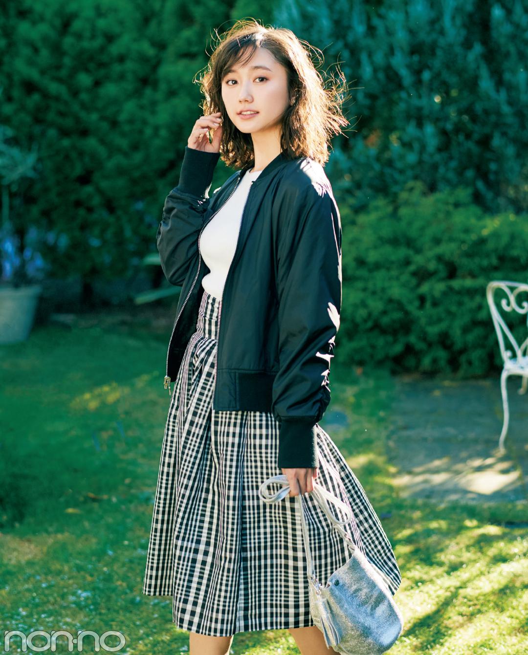 ギンガムチェックのスカート、春一番はこう着る!_1_1