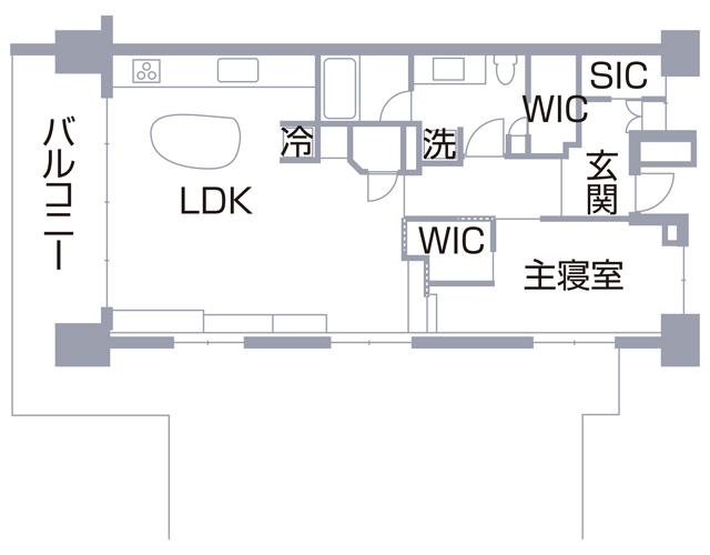 S邸の間取り図