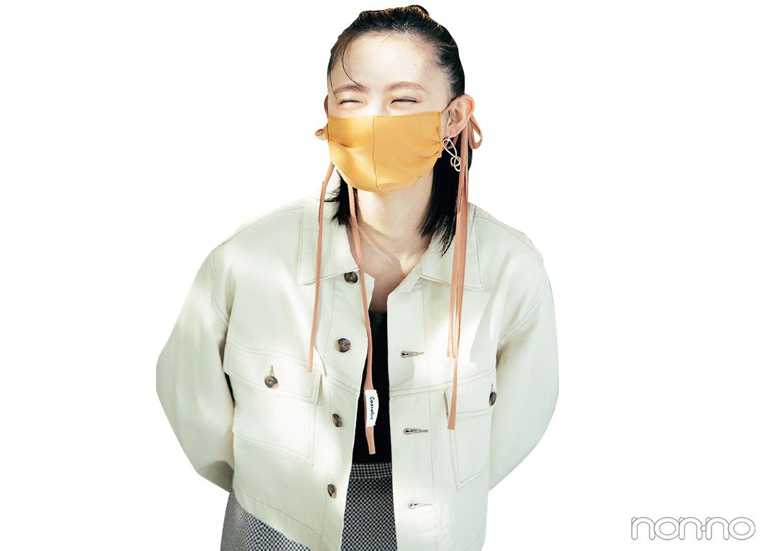 マスクをした遠藤さくら