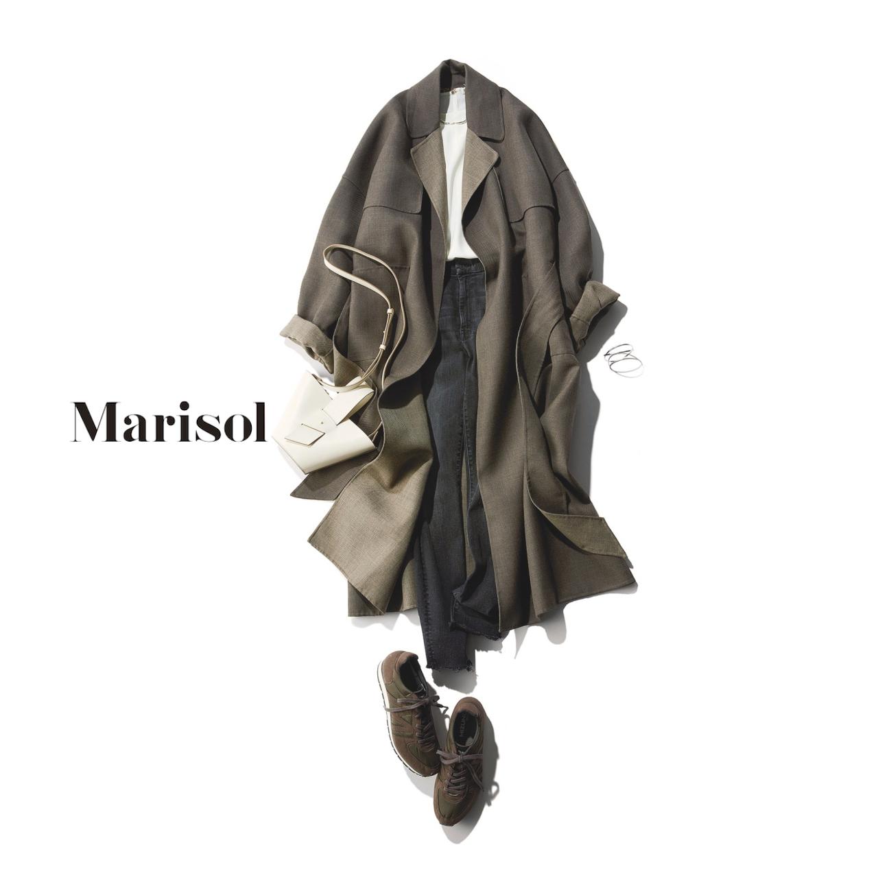 40代ファッション コート×ブラックデニムコーデ