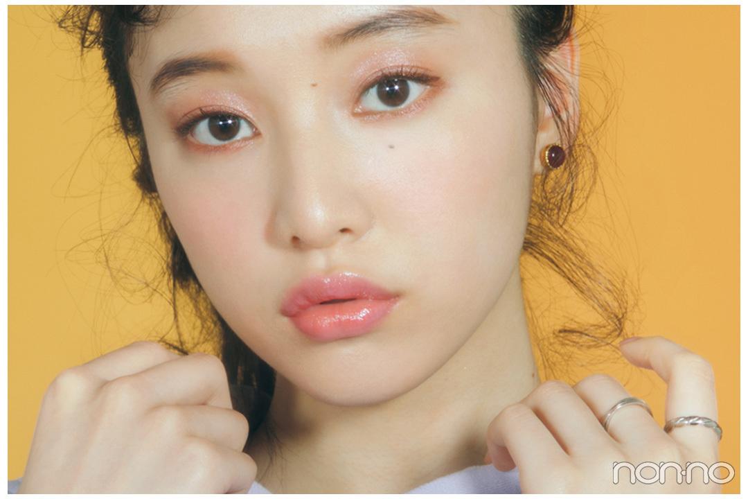 【山田愛奈】愛され顔でトレンドもキャッチ! ピンクで韓国っぽワントーンメイク♡