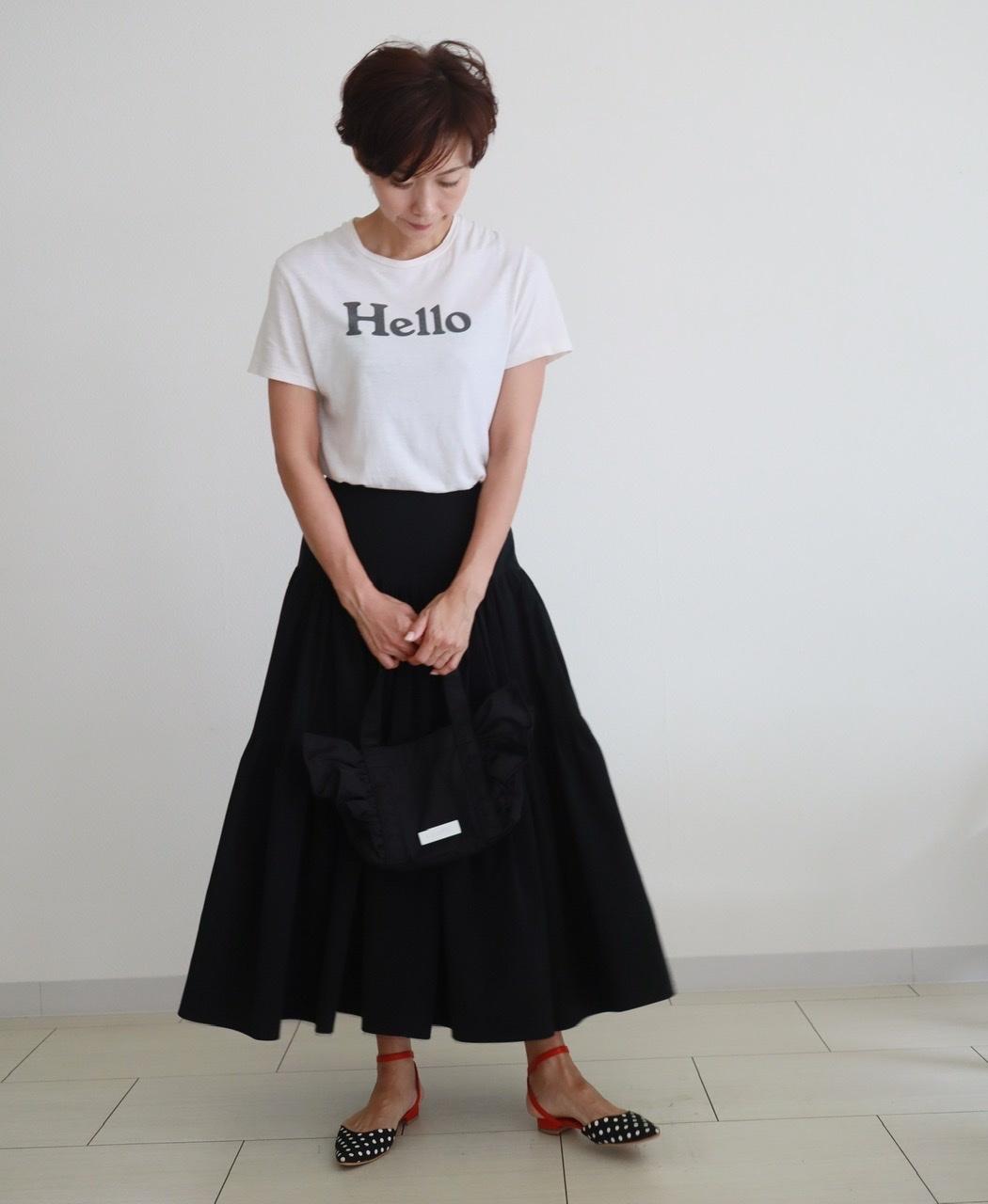 """マディソンブルーの""""Hello""""Tシャツ_1_2"""