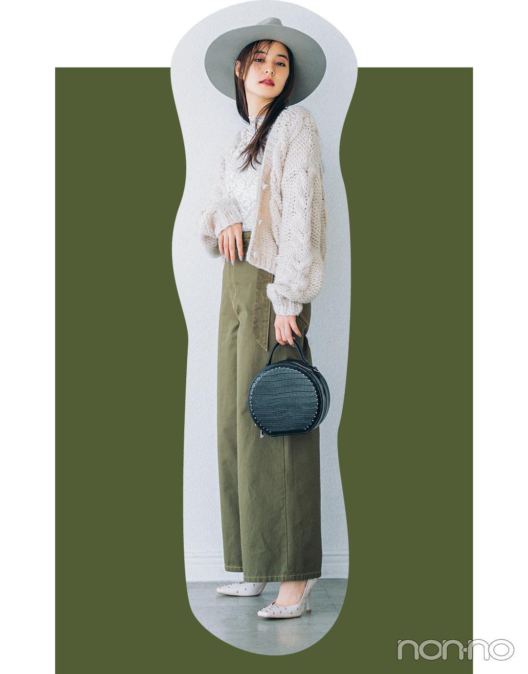 新木優子はミリタリーカーキをほんのり甘く♡ 4コーデを一気見!【今日のコーデはブラウン以外】_1_5