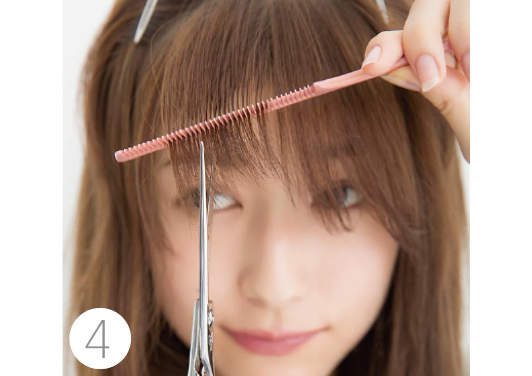 厚めの前髪を、セルフカットでシースルー前髪にする方法★超ていねい解説!_1_4-4