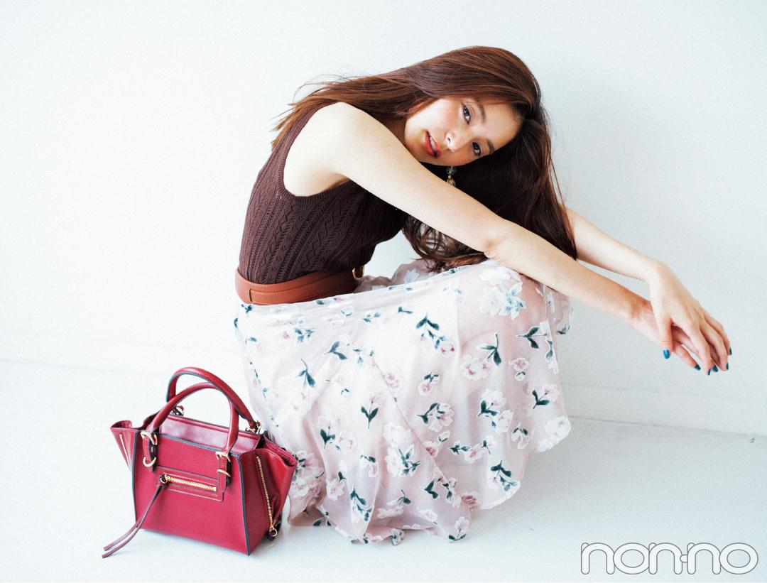 新木優子が着る♡ 秋の大人っぽ花柄、迷ってる人のための3選_1_3