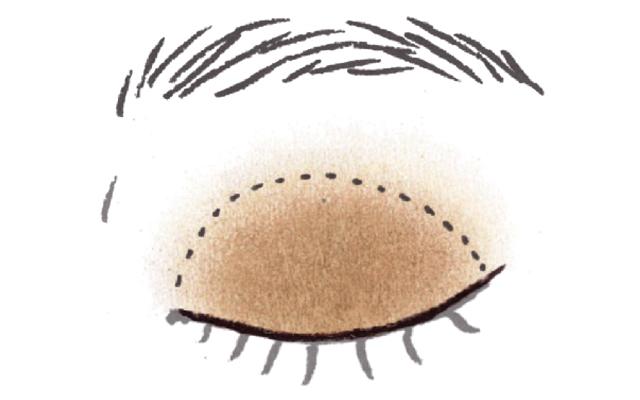ブラウンのワントーンで立体的な目もと《1》色みの違うブラウンを2色重ねて奥行きとニュアンスを