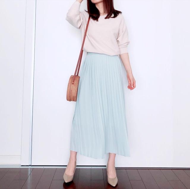 UNIQLOプリーツスカートで春爛漫【tomomiyuの毎日コーデ】_1_3