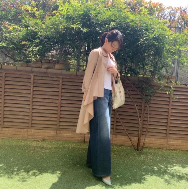 Akaneさんが紹介していたAMERIKAN HORICの着痩せデニムを合わせてみました!