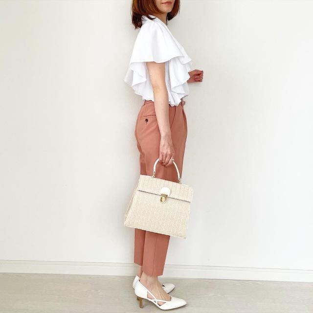 春の白シャツ4スタイル全てお見せします!【tomomiyuコーデ】_1_14