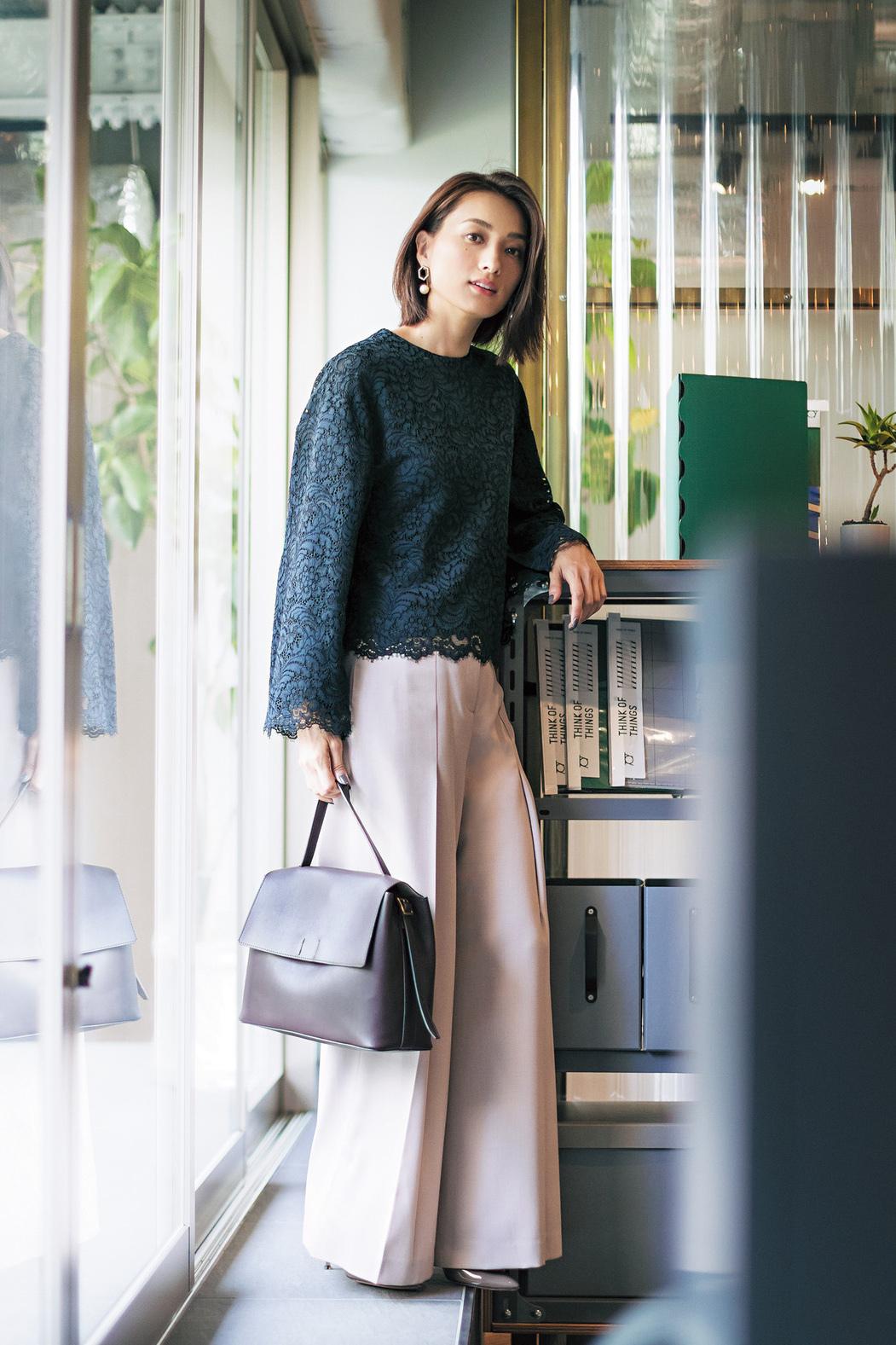 """""""感じのいい仕事服""""のパンツは、女っぷり20%増しコーデで!_3_1"""
