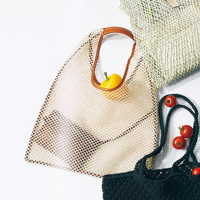 メッシュ素材のマーケットバッグ ¥20,000/トラディショナル ウェザーウェア 二子玉川ライズ店(トラディショナル ウェザーウェア)