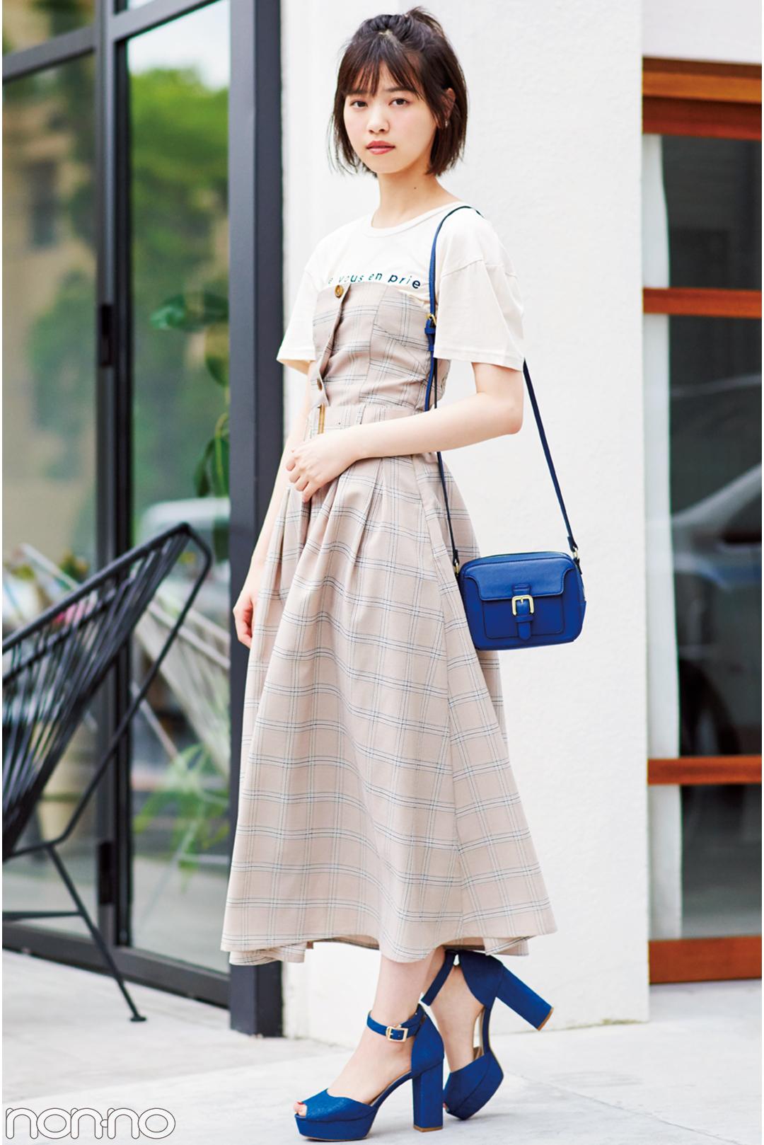 西野七瀬の夏スタイル♡ ロゴTシャツ着回しコーデ1×3!_1_3-2