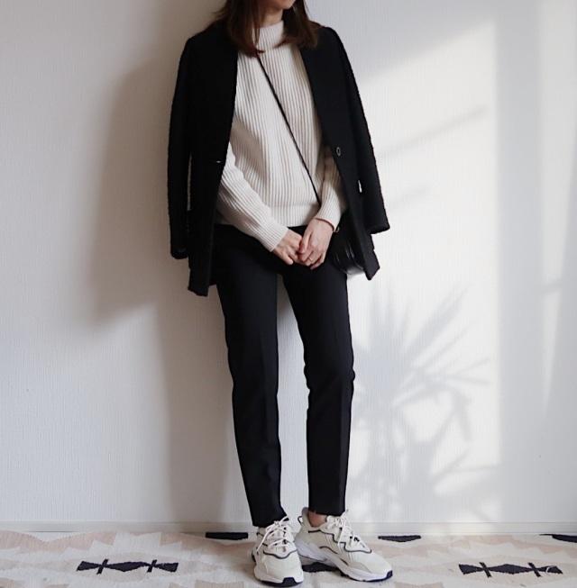 【adidas】白レザーのきれいめハイテクでスニーカーコーデを更新_1_1