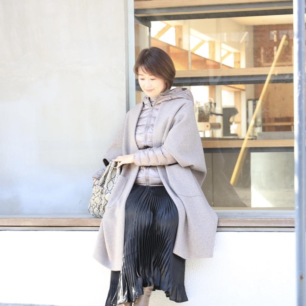 黒艶ロングスカートで私流フェミニンコーデ_1_4