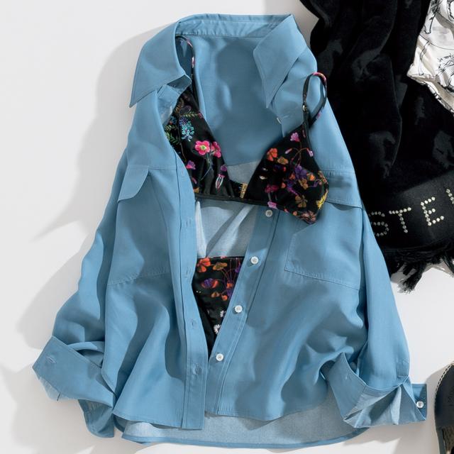 ステラ マッカートニー ウィメンズ スイムウェアの水着とステラ マッカートニーのシャツ