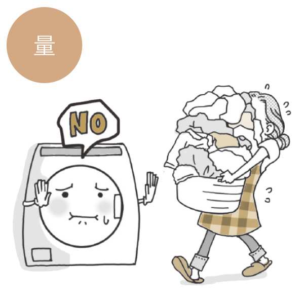 """洗濯機洗いの一回の量って? """"量""""と""""汚れ""""を再確認【洗濯のコツQ&A】_1_1-1"""