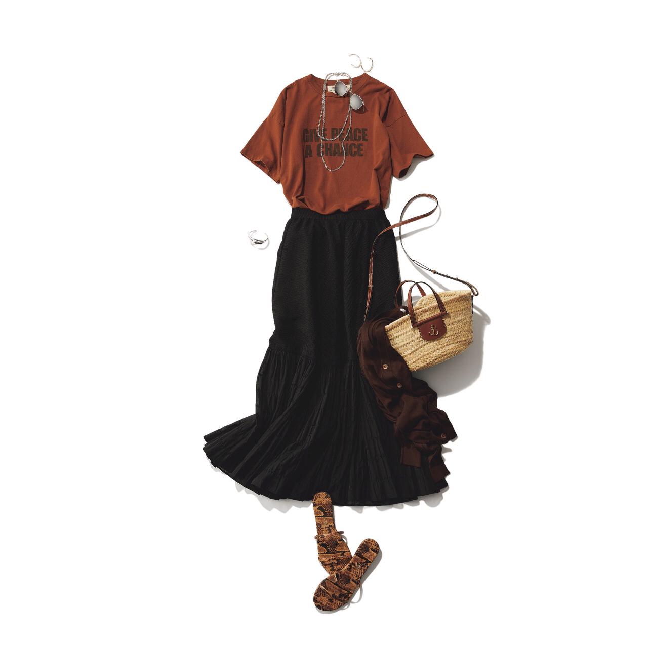 【真夏こそ映える黒コーデ】重たく見えず、シックに決まるアラフォーの黒コーデまとめ|40代ファッション_1_11