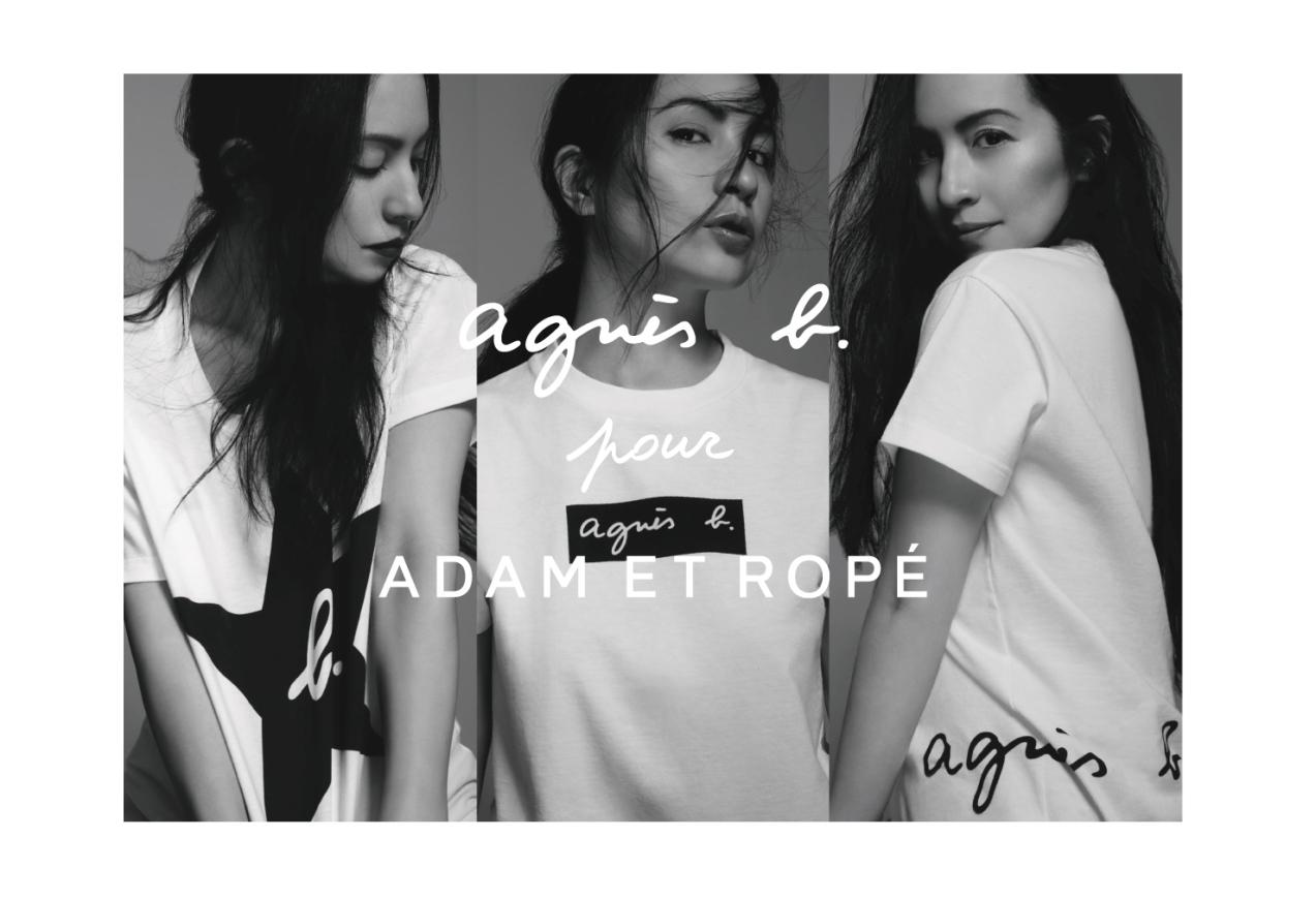 ADAM ET ROPÉがagnès b.とコラボレーション。ロゴをポイントにしたTシャツを発売。_1_1
