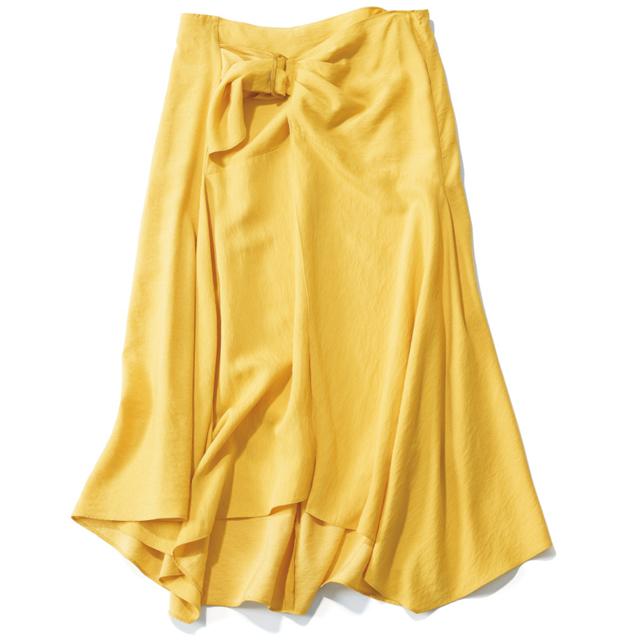 旬デザインのラップスカート