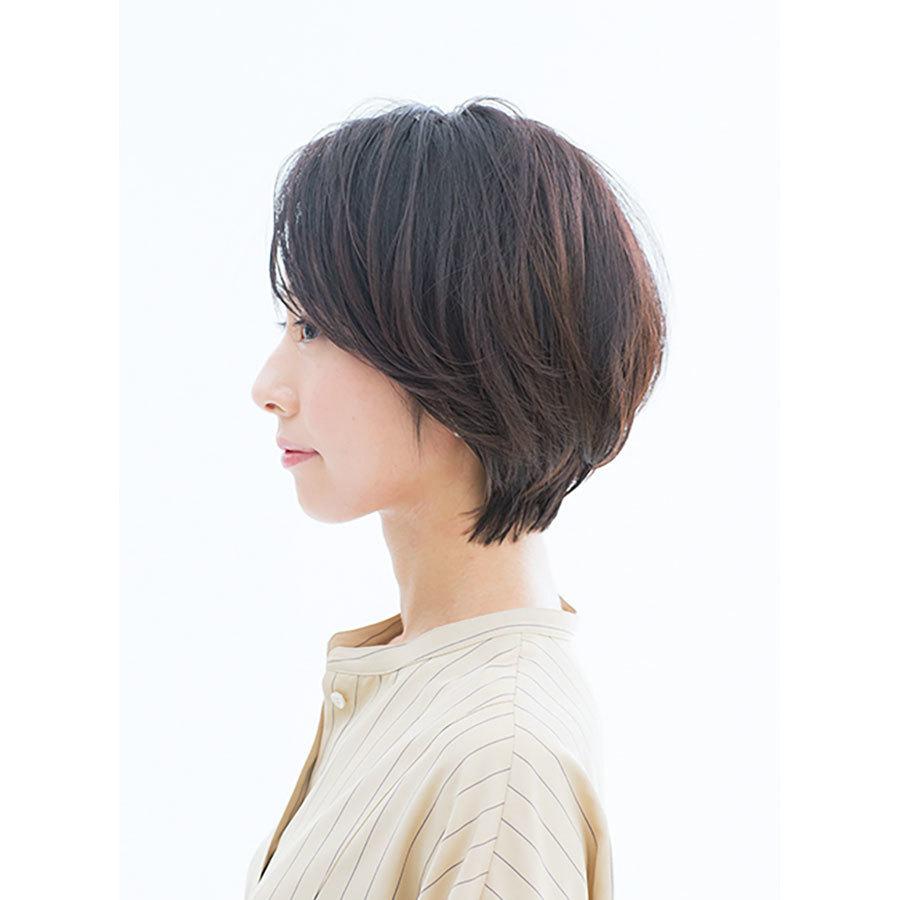 横から見た 40代人気ショートヘアスタイル1位の髪型