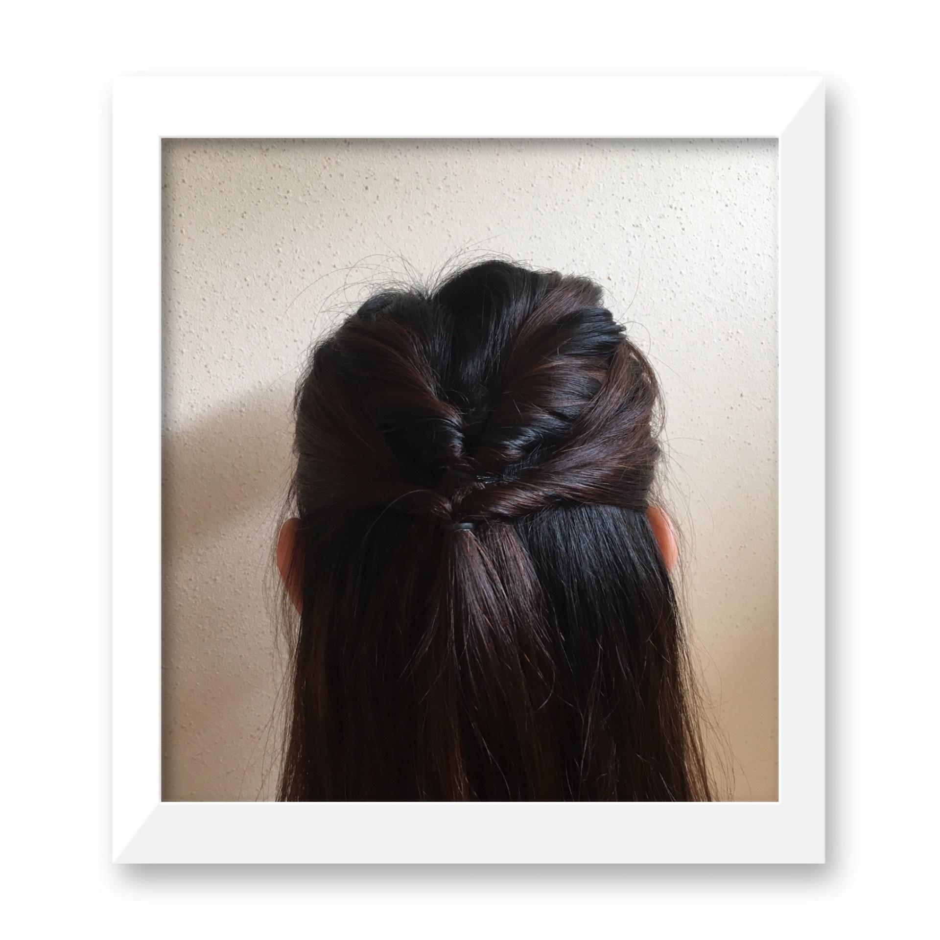 不器用さんでも「1番映える浴衣髪アレンジ」【ロング/編み込みなし】_1_2-2